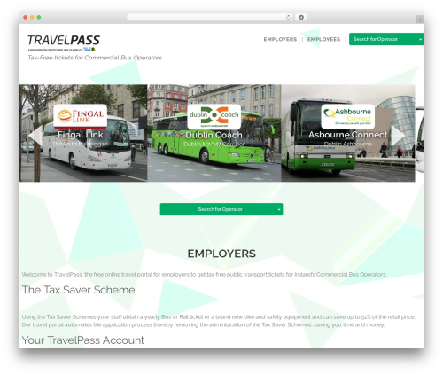 WordPress theme Pivot - travelpass.ie