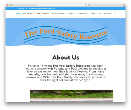 WordPress website template Divi - thepoolsafetyresource.com