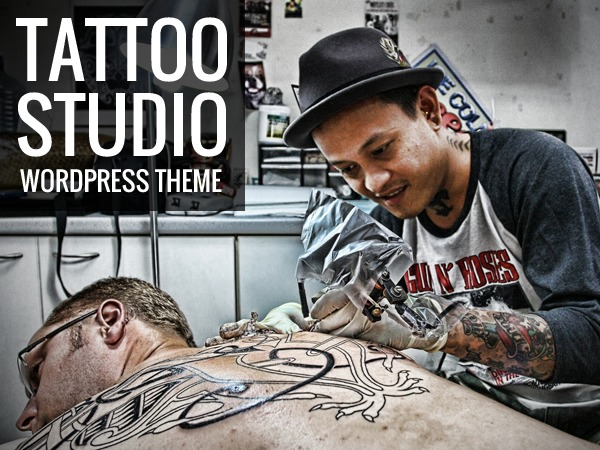 WordPress website template Tattoo Studio
