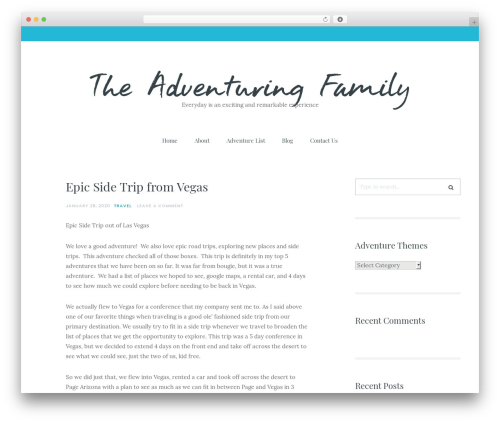 Carbis theme WordPress - theadventuringfamily.com
