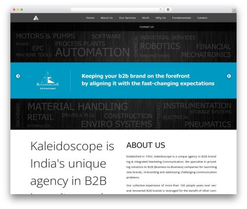 Kaleidoscope best WordPress theme - kaleidoscopeb2b.com