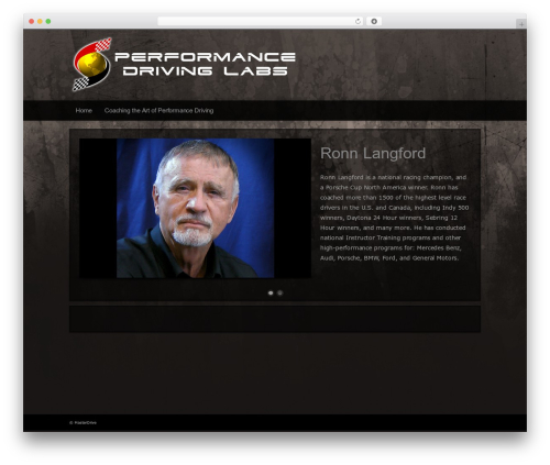 Modular premium WordPress theme - performancedrivinglabs.com