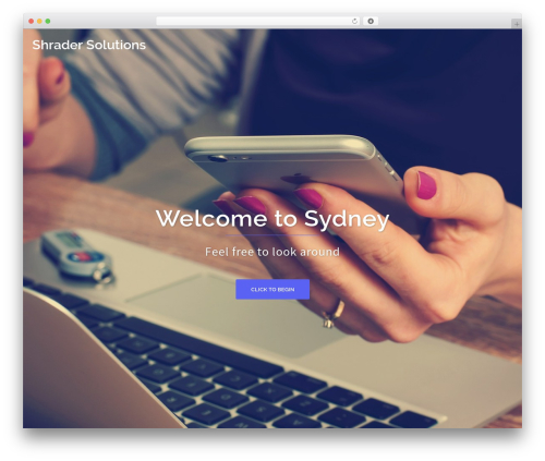 Sydney best free WordPress theme - shradersolutions.com