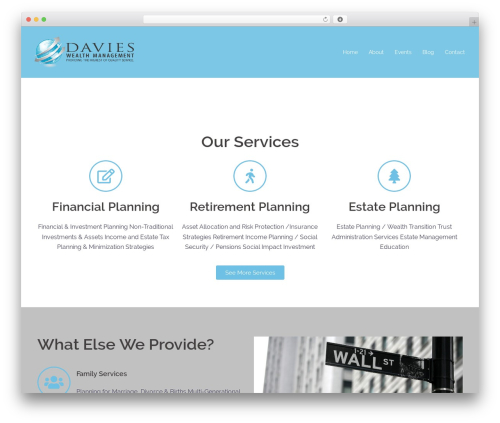 Sydney WordPress theme design - proathletewealthadvisor.com