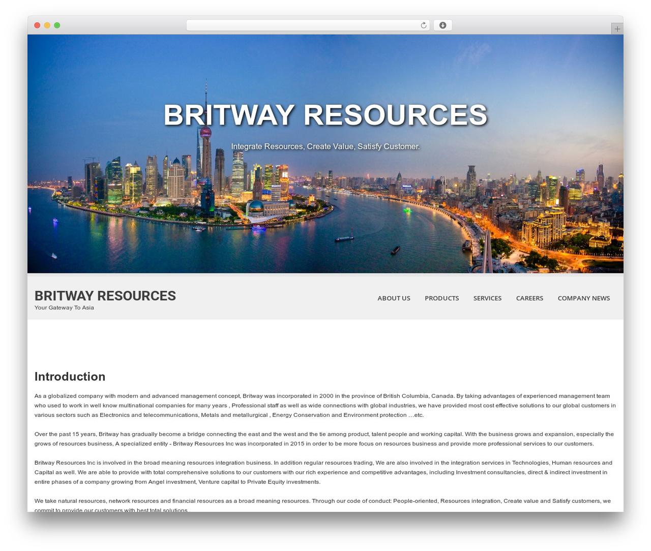 Template WordPress SKT White - britwayresources.com