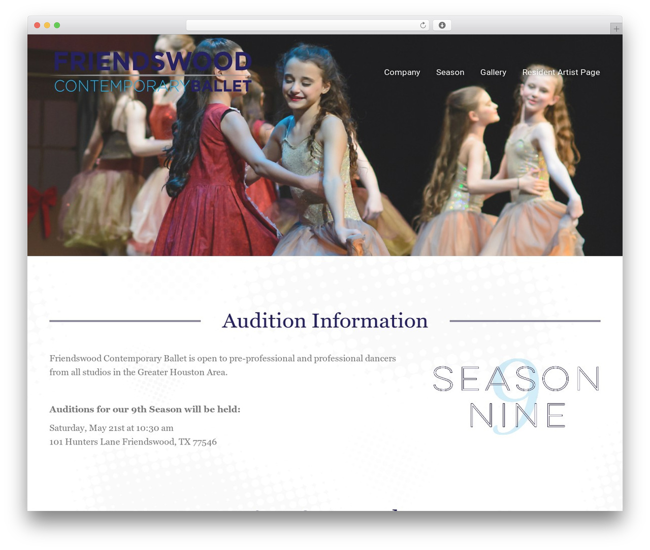 The7.2 WordPress theme - friendswoodcontemporaryballet.com