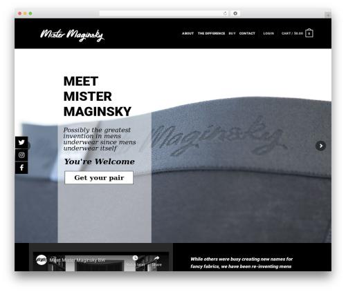 WordPress template Flatsome - mistermaginsky.com