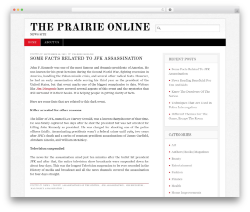 WordPress theme Diginews - theprairieonline.com