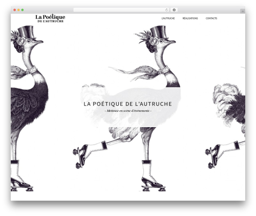 Beau WordPress theme - poetique-autruche.com