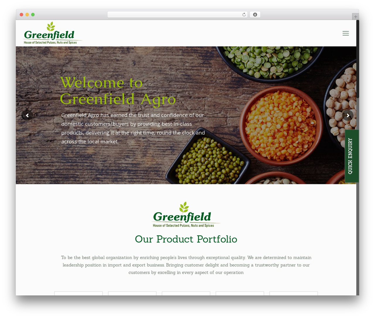 Betheme theme WordPress - greenfield-agro.com