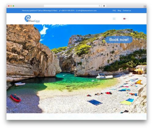 Betheme WordPress theme - bluecavetours.com