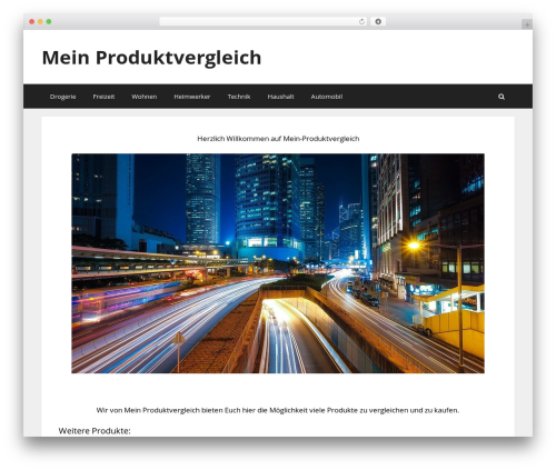 GeneratePress WordPress theme design - mein-produktvergleich.com