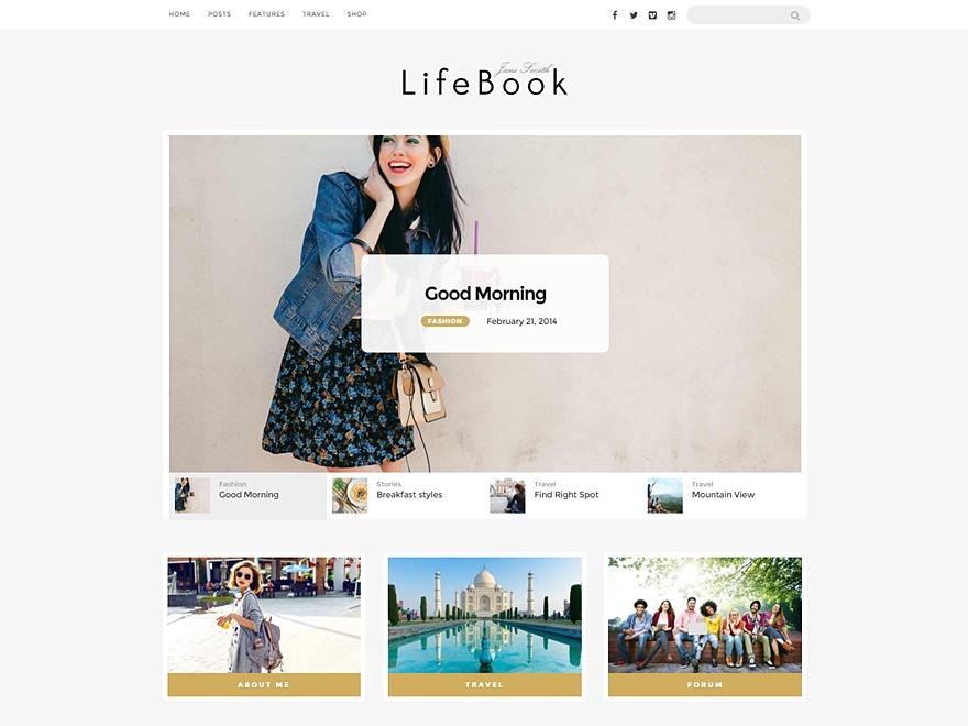 Lifebook Child best WordPress theme