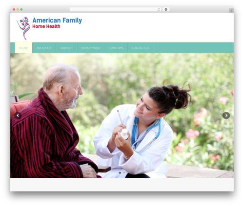 Responsive theme WordPress - americanfamilyhhs.com