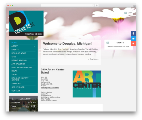 TownPress WordPress theme - douglasmichigan.com