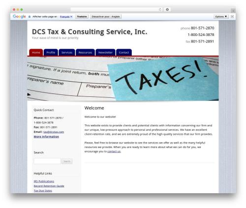 WordPress template Customized - dcstax.com