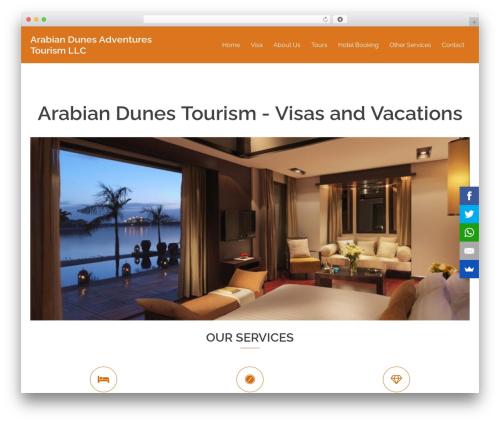 WordPress theme Sydney - arabiandunetourism.com