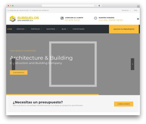 WordPress theme TheBuilt - subsuelos.com