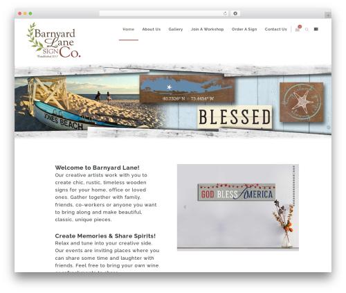 Zass WordPress theme - barnyardlanesignco.com