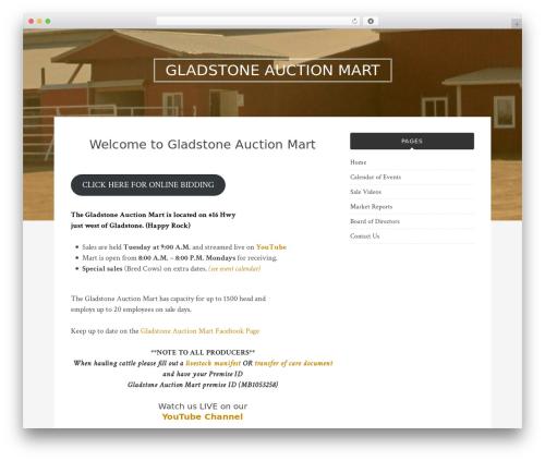 Bulan best WordPress template - gladstoneauctionmart.com