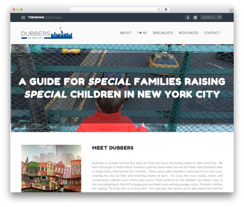 Extra theme WordPress - dubbersinthecity.com