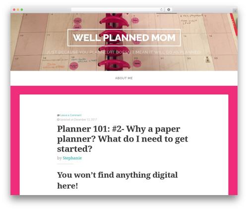 Swell Lite best free WordPress theme - wellplannedmom.com