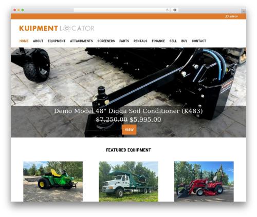Theme WordPress The7 - kuipmentlocator.com