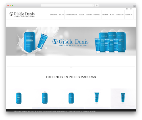 WordPress website template WP Omnia - giseledenis.com