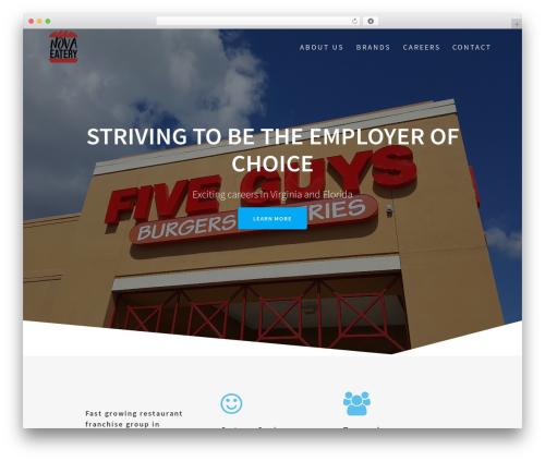 One Page Express WordPress template free - novaeatery.com