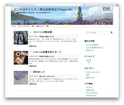 Simplicity2 WordPress theme design - toushihappy.com
