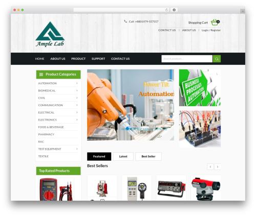 harveststore WordPress ecommerce template - amplelab.com