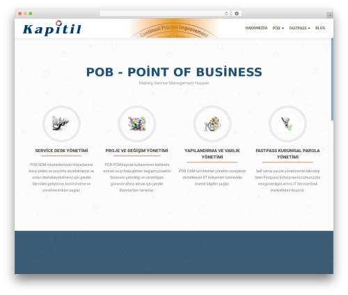 OnePirate WordPress theme - kapitil.com