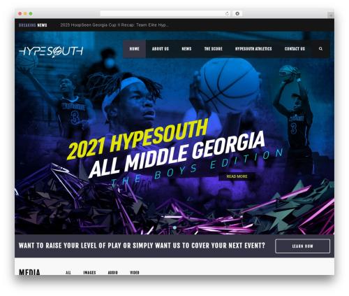 WordPress theme Splash - hypesouth.com