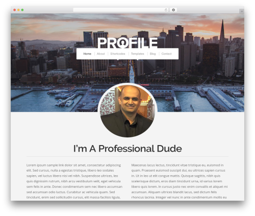 WordPress website template Organic Profile - mikekazi.com