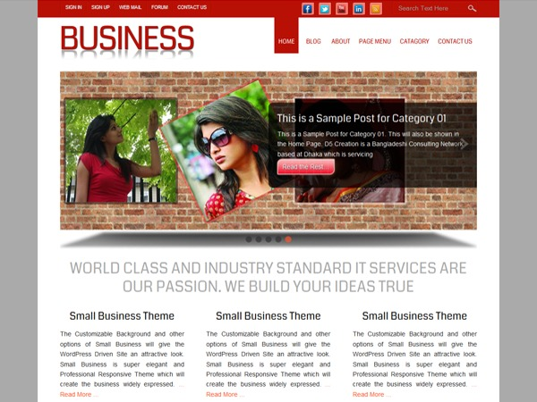 Small Business Extend WordPress template for photographers