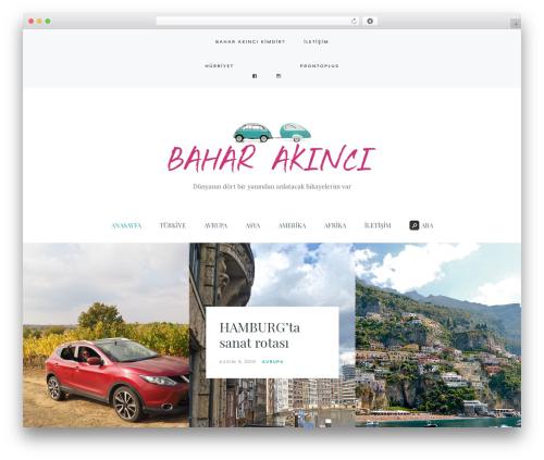Carbis top WordPress theme - baharakinci.com