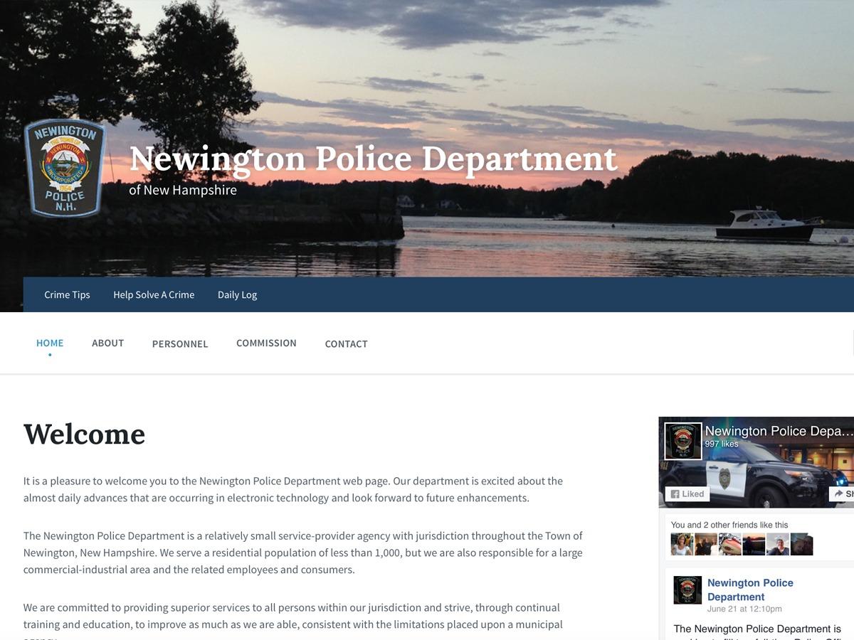 Newington PD theme WordPress
