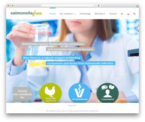 Template WordPress Avada - salmonellafree.com