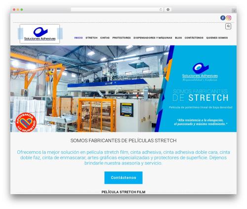 Template WordPress Organic Web Shop - solucionesadhesivas.com