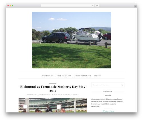 Theme WordPress 30 Day Blog Challenge - rustyschucksfishingandsports.com