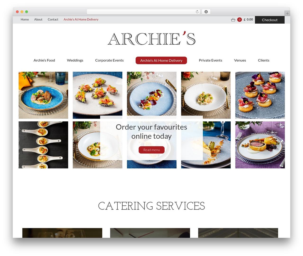 WordPress template Blank Theme - archiesfood.com