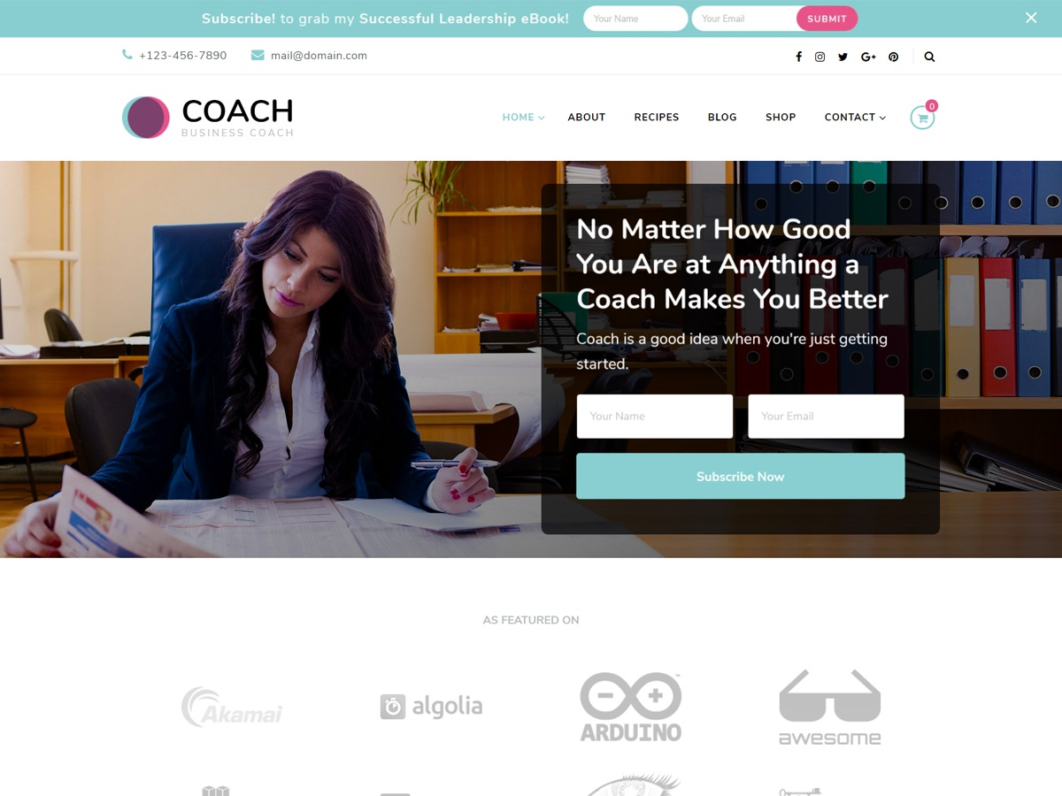 Blossom Coach Pro WP template