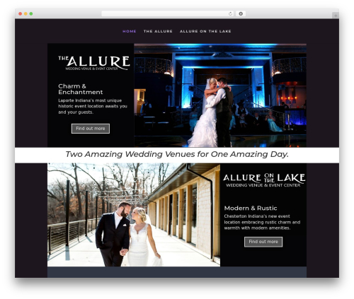 Divi WordPress wedding theme - allureone-weddings.com