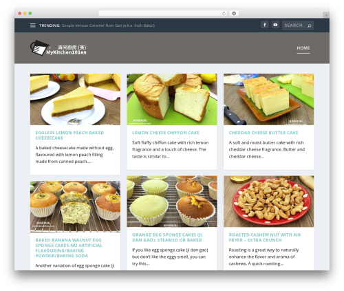 Extra food WordPress theme - mykitchen101en.com