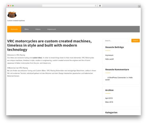 Maintenance Services WordPress website template - vrc-racing.com
