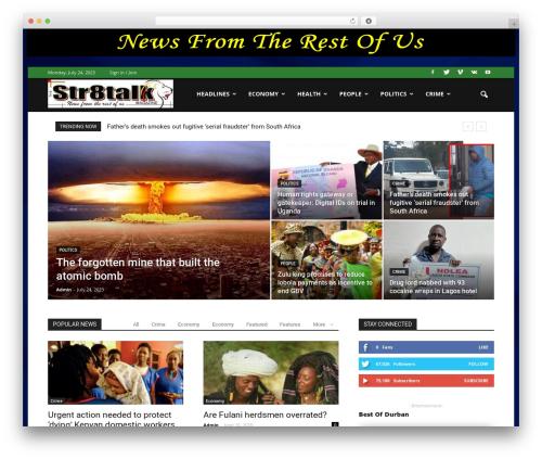 Newspaper WordPress news theme - str8talkmagazine.com