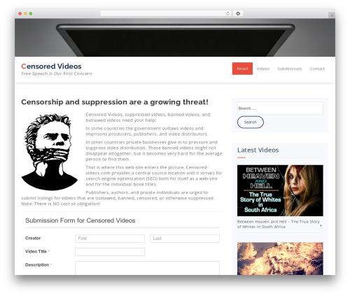 Specia WordPress movie theme - censored-videos.com