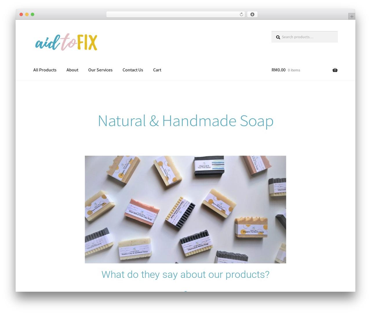 Storefront WordPress template - aidtofix.com