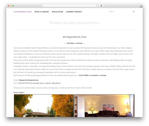 WordPress template Activello - westernstudentrental.com