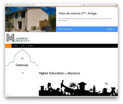 Accesspress Lite free WordPress theme - moroccodemia.com